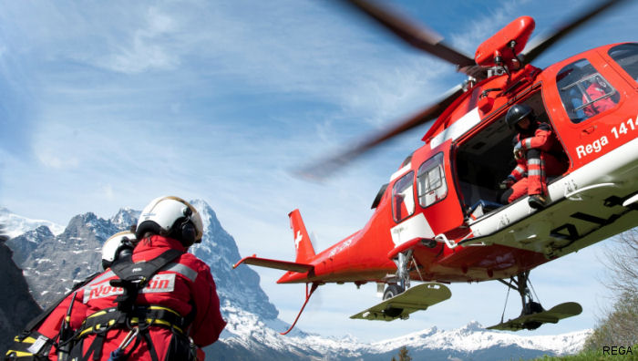 REGA Schweizerische Rettungsflugwacht, the Swiss Air Rescue, first european certified for helicopter and jets operations by the Commission on Accreditation of Medical Transport Systems (CAMTS)