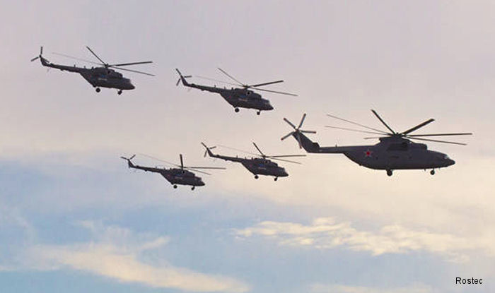 Russian Helicopters holding intends to supply more than 150 combat helicopters abroad in 2016-2018 through Rosoboronexport