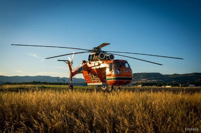 Erickson and Helicopter Transport Services (HTS) announce first flight of its advanced composite main rotor blades for the S-64/CH-54  helicopter