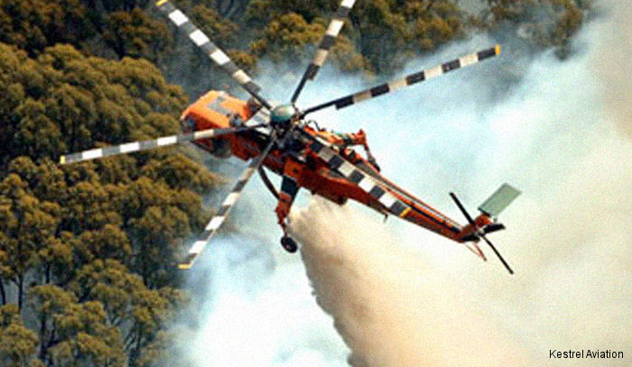 Kestrel awarded a $24M two-year contract extension with NAFC  for 6 firefighting Erickson S-64E helicopters in different locations throughout Australia