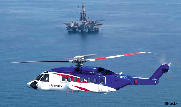 Sikorsky recognized Bristow for its critical role in airlift 400 offshore workers with nine S-92 helicopters from six oil platforms in the North Sea on December 31, 2015