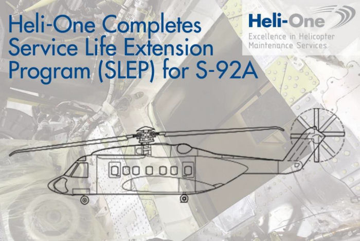 Heli-One Delivers Sikorsky S-92A Service Life Extension Program