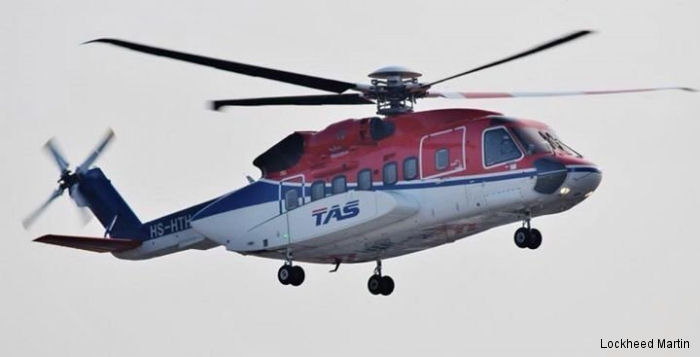 Thai Aviation Services (TAS) will renew its existing fleet of commercial helicopters with five S-76D medium lift and two S-92 heavy lift Sikorsky aircraft