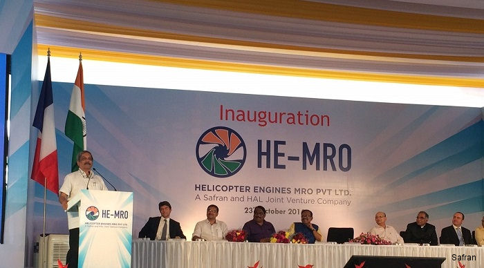 New company Helicopter Engines MRO Pvt Ltd (HE-MRO), a Safran-HAL joint venture, will support TM333 and Shakti/Ardiden 1H1 helicopter engines in India