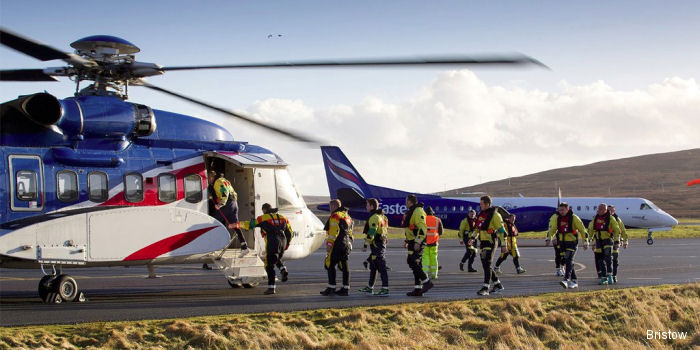 Bristow Logistics Services Shetland (BLSS) launched in partnership with Eastern Airways to fly offshore workers from Aberdeen to Scatsta in the Shetland Islands on fixed-wing aircraft