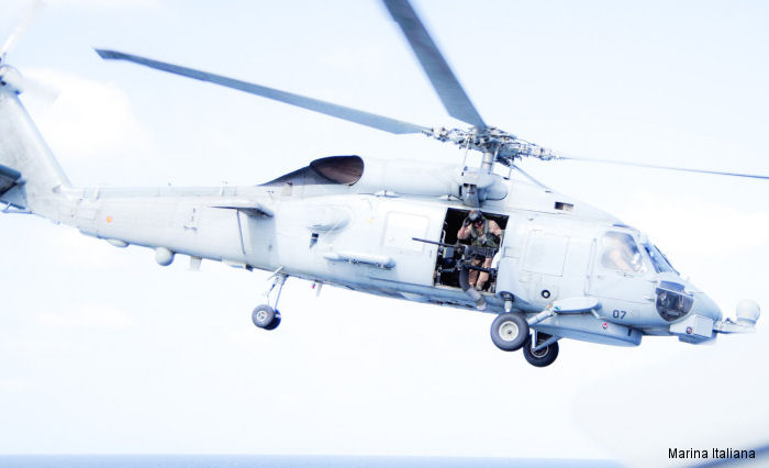First landing of a SH-60 Seahawk on Italian FREMM class frigate