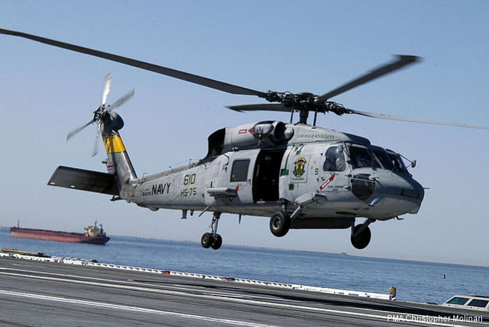 US Navy SH-60F were embarked in the aircraft carriers until replaced by the current MH-60S variant