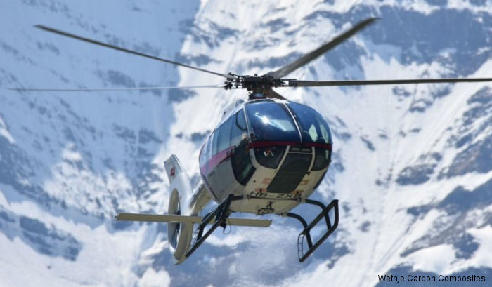 The newest helicopter SKYe SH09 manufactured by Marenco Swisshelicopter AG shall be supplied with trim parts and structural parts by Wethje Carbon Composites GmbH