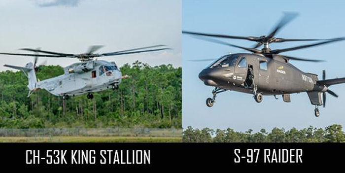 Between May and October 2015, Sikorsky put air beneath the wheels of two new helicopters: the S-97 Raider light tactical helicopter, and the CH-53K King Stallion heavy lift aircraft.