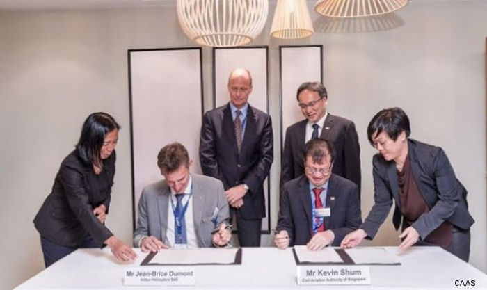 Airbus Helicopters and the Civil Aviation Authority of Singapore (CAAS) signed MoU to conduct Unmanned Aircraft Systems (UAS) Proof-of-Concept Trials, named the Skyways Project, in Singapore