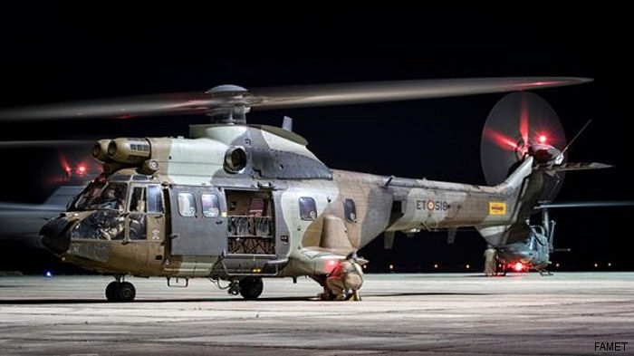 Four Super Puma and AB212 from the Spanish Army evacuated 133 people and 5 dogs from Punta de Teno in the Canary Islands after a collapsing road isolated the town