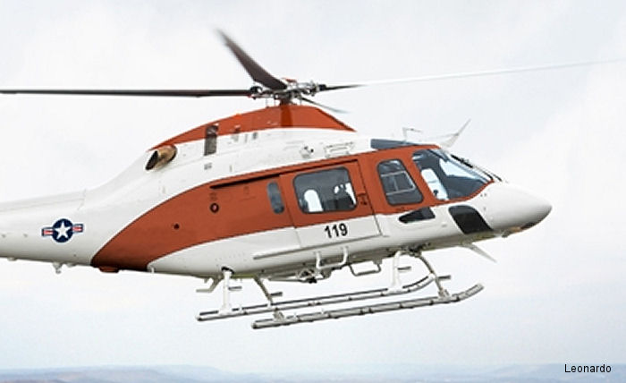 Leonardo-Finmeccanica introduced the TH-119, based on the AW119Kx, for the U.S. Navy Advanced Helicopter Trainer competition