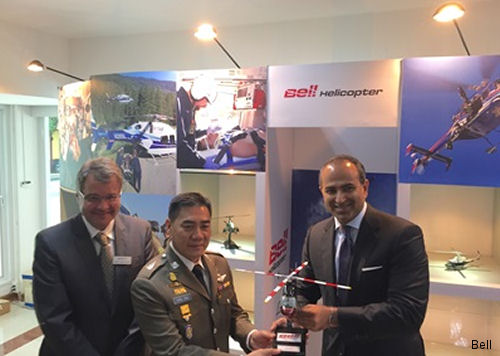 Bell Helicopter participated in the Royal Thai Police (RTP) Office of Logistics anniversary event held in Bangkok, Thailand. Bell Helicopter presented a Bell 429 model to the RTP.