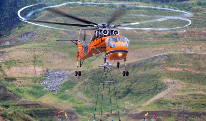 Erickson renewed for fifth time contract with Helifor Canada, part of Columbia Helicopters, to continue providing aerial timber harvesting services in British Columbia and western Canada.
