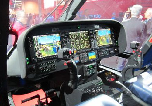 The new  twin-engine, single-pilot IFR helicopter AgustaWestland AW109 Trekker uses a Genesys Aerosystems glass cockpit which is also used on the S-61T and Tucano, Scorpion and G-120TP aircraft