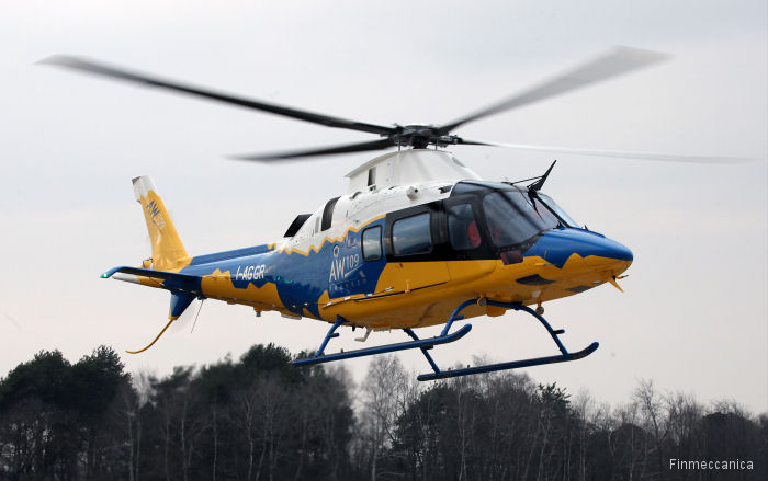 Finmeccanica announced the maiden flight of the new AgustaWestland AW109 Trekker light twin engine helicopter prototype at Cascina Costa , Italy