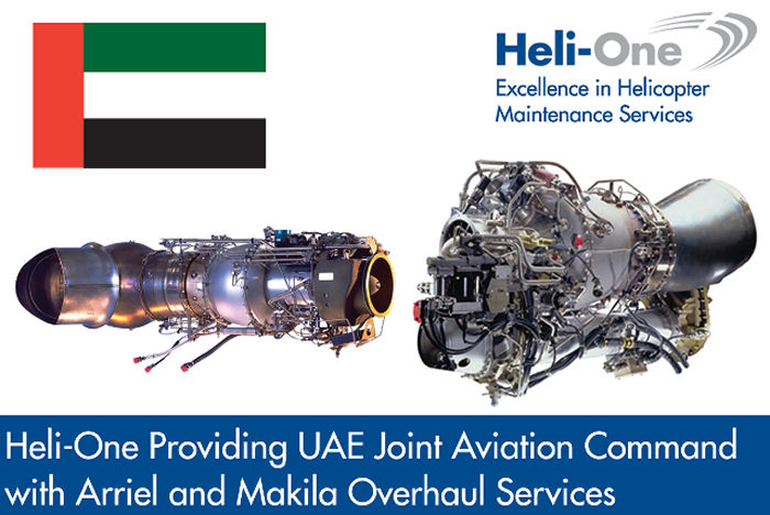 CHC' s Heli One to provide MRO services in Norway for the Arriel 2C and Makila 1A engines of UAE fleet of  AS365 and AS332 helicopters
