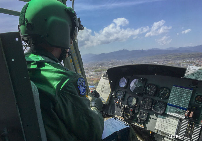 Fifth Air Force Commander Takes UH-1N Course