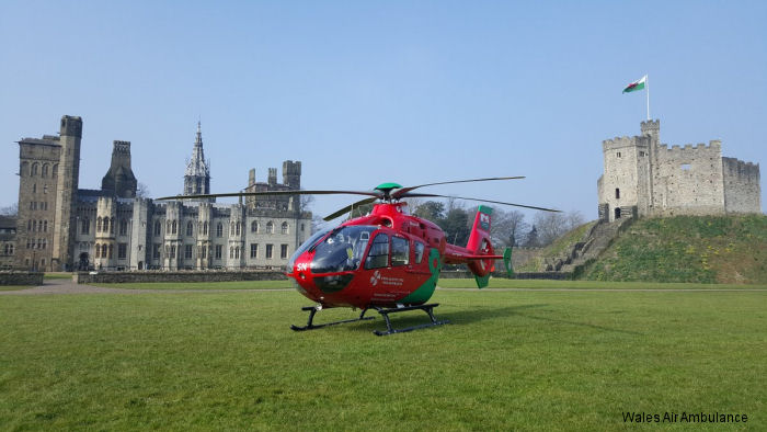 Wales Air Ambulance launches a fourth helicopter to be based at Cardiff Heliport. The new EC135T2+ will be unveil at Swansea Air Show July 1-3