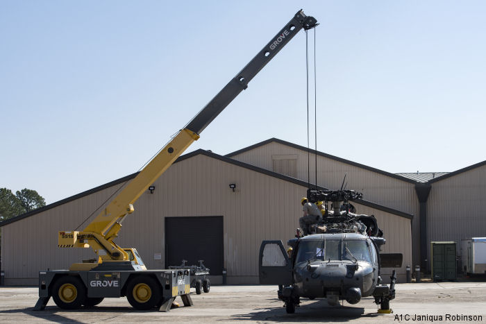 The 41st Helicopter Maintenance Unit (HMU) at Moody AFB employs retired Pave Hawk and UH-60 Black Hawk pilots as the final authority on their HH-60G flight readiness.