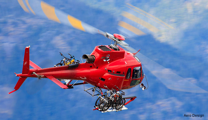 European Aviation Safety Agency (EASA) certification of Canadian Aero Design 's cargo basket, bicycle racks and its extensive list of fixed and quick release steps for the AS350 helicopter