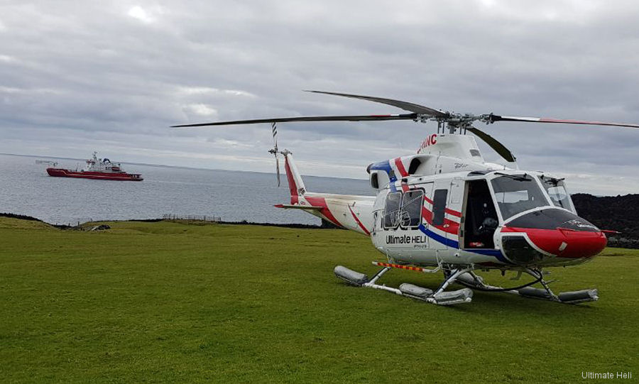 Ultimate Heli Bell 412 Completes Scientific Support