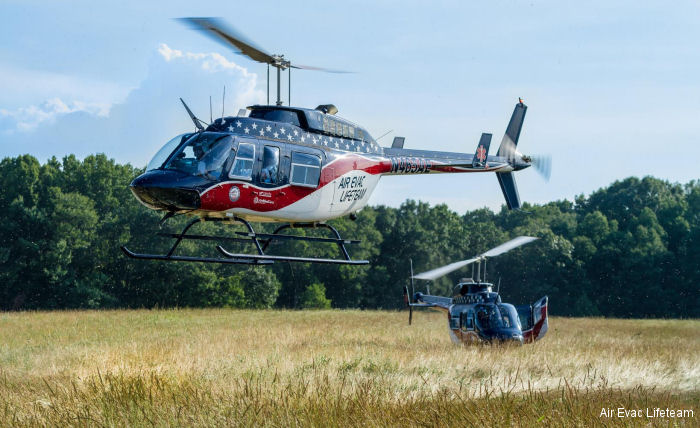 Air Evac operates 140 Bell 206L4 and 10 Bell 407 at its 132 bases across 15 states