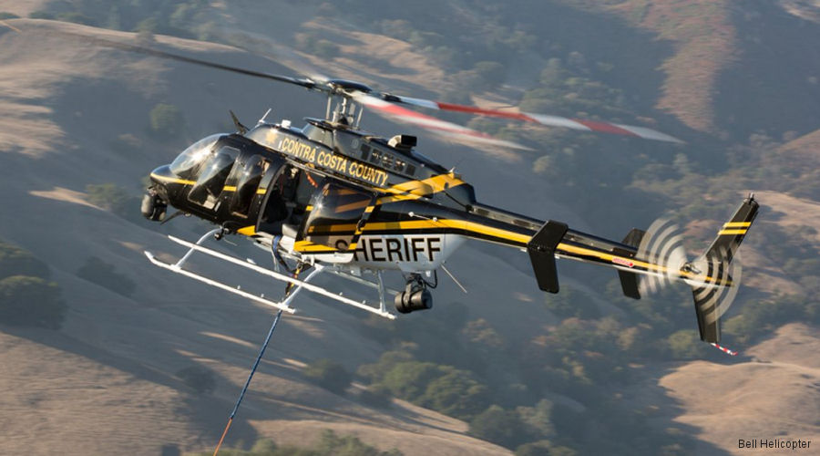 Bell Helicopter present at the Airborne Law Enforcement Association (ALEA) exposition July 26-28 in Reno, NV featuring Contra Costa County Sheriff's Office Bell 407GX