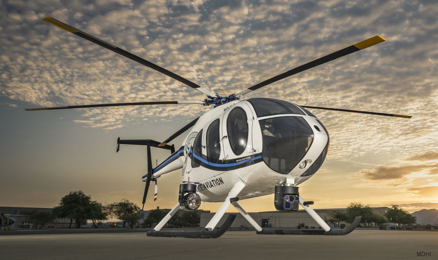 MD Helicopters featuring the new MD6XX Concept helicopter configured for  law-enforcement missions in the 2017 Airborne Law Enforcement Association (ALEA) Expo, July 26–28 at Reno, Nevada