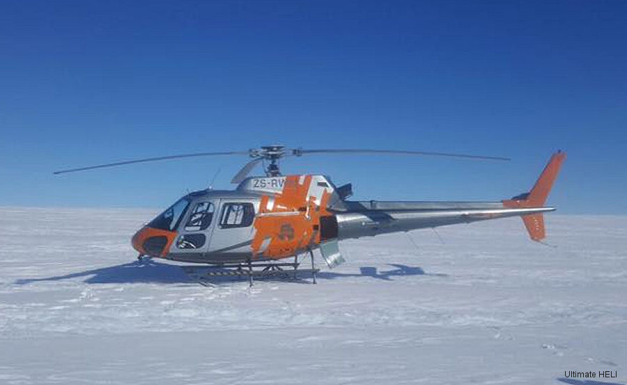 South Africa's Ultimate HELI concluded its third successive Antarctica season operating an AS350 off a scientific research vessel
