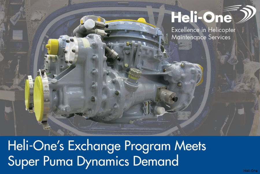 Heli-One, CHC MRO service, completed AS332 Super Puma dynamic component exchanges for Puerto Rico's Electric Power Authority ( Autoridad de Energía Eléctrica de Puerto Rico )