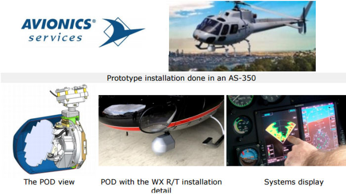 Avionics Services S/A from Brazil and Bendix/King to announce at LAAD 2017 the RDR 2000/2060 digital weather radar integration solution for the AS350 helicopter