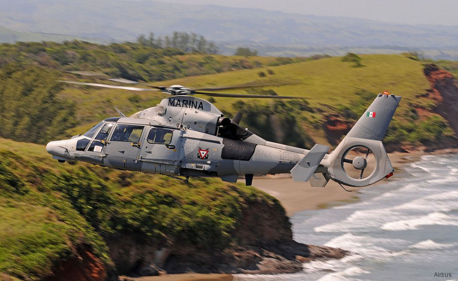 The Mexican Navy was the launch customer of the AS565MBe Panther
