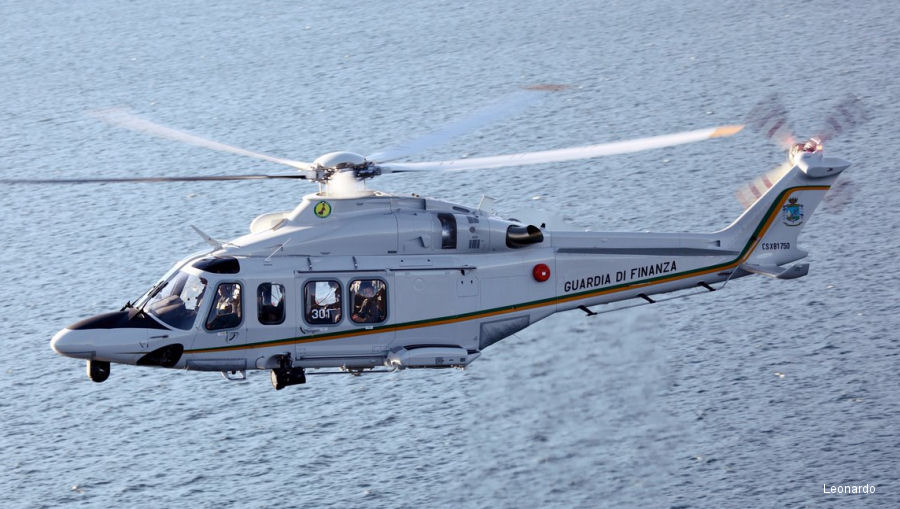 Italian Coast Guard ordered 2 AW139 to be delivered by the end 2018 and Italian Customs and Border Protection Service (Guardia di Finanza) 6 more for 2020. Both replacing ageing AB412