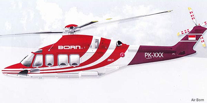 Waypoint Leasing Ireland to provide an AW139 helicopter previously operated by CHC to PT Air Born on long-term lease in support of mining operations in Indonesia