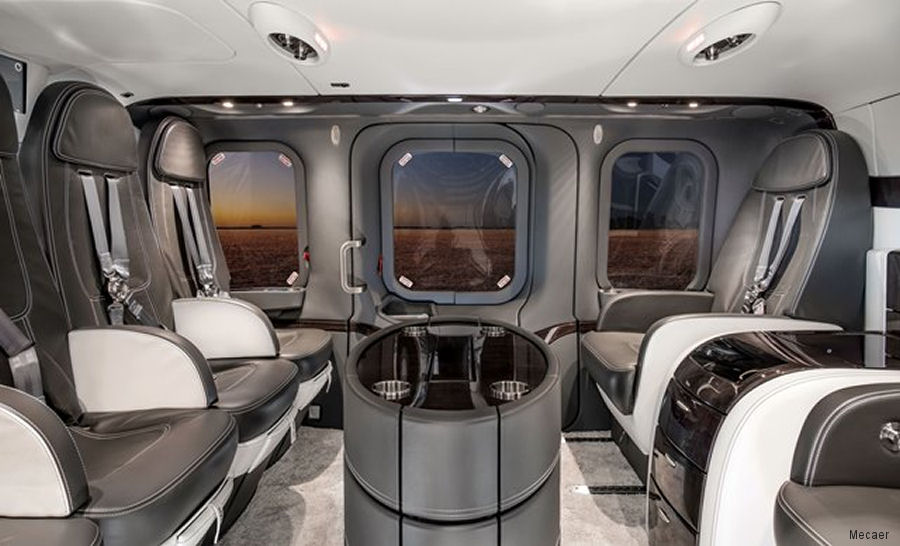 Leonardo Service Center in Philadelphia delivered a new AW139 fitted with a VIP interior manufactured by Mecaer in Italy