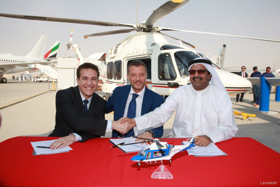 Falcon Aviation of Abu Dhabi (UAE), launch customer of the offshore variant of the AW169, orders 3 additional helicopters. To be delivered by Milestone 1Q 2018 and represents FAS first leasing