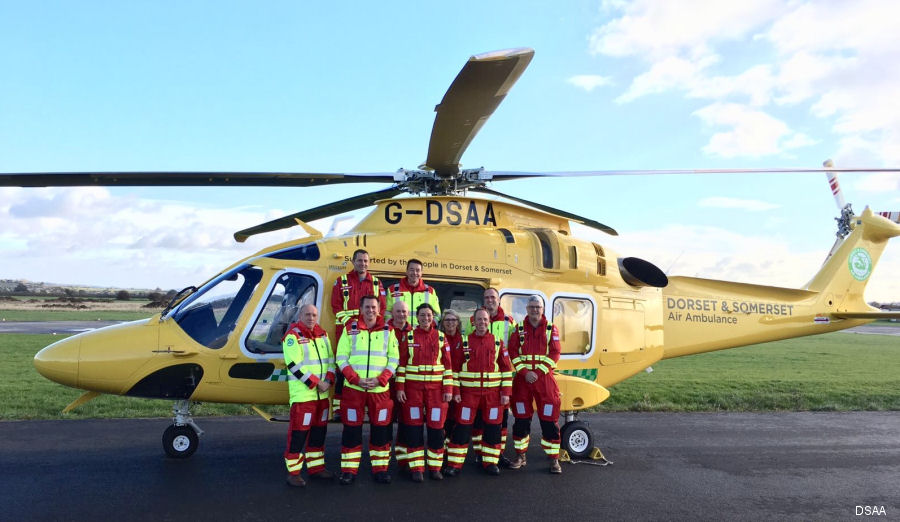 Dorset and Somerset Air Ambulance new AW169 helicopter entered into service on June 12, 2017