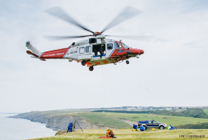 HM Coastguard first of two new AW189 helicopters for the Lee-on-Solent base. Will replace the current AW139 from April 2017