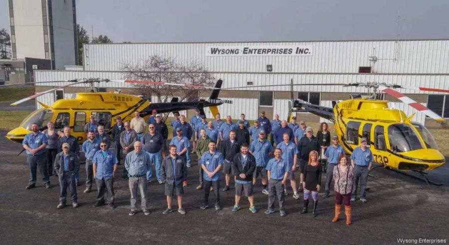 Wysong Delivered Two Bell 407GX to PHI
