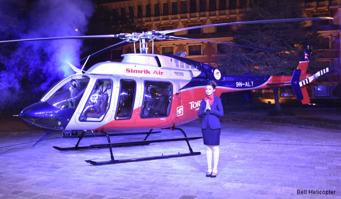 Bell Helicopter announced delivery of the first Bell 407GXP to Nepal with customer Simrik Air