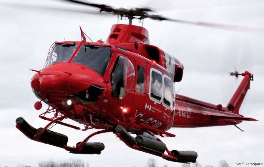 DART Aerospace provided special equipment (float system, liferafts, bearpaw kit, etc) for the new fleet of Bell 412EPi of the Canadian Coast Guard