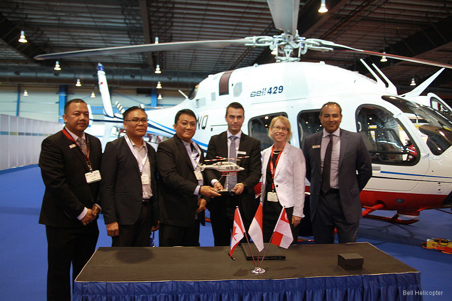 PT Carpediem Mandiri received 2 Bell 429 for supply to the Flight Calibration Department of the Indonesian Ministry of Transportation. The first ones to be used in that role