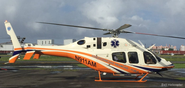 A new Bell 429 in Helicopter Emergency Medical Services (HEMS) configuration was delivered to the Department of Health, Puerto Rico  