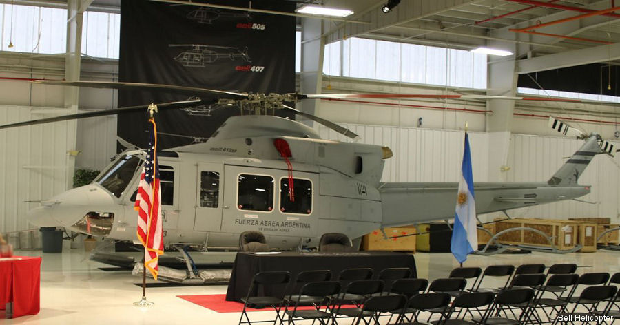 Bell Helicopter delivered 4 Bell 412EP to the Argentine Air Force from a FMS order approved by the US State Department in 2015