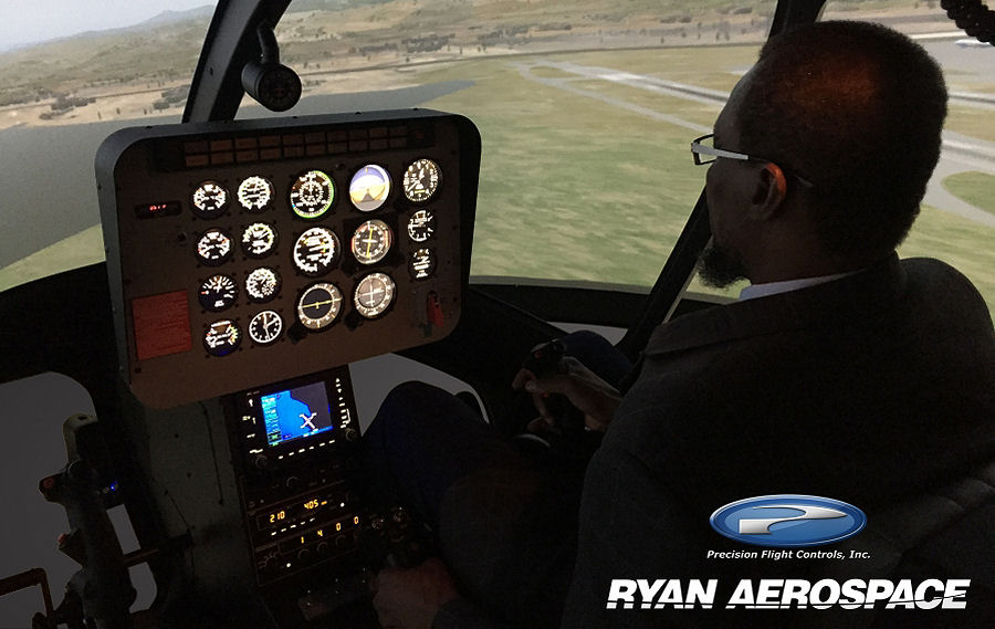 Precision Flight Controls (PFC) and Ryan Aerospace (Australia) Achieve FAA Approval / Certification For Bell 206 / Bell 407 Helicopter Simulator
