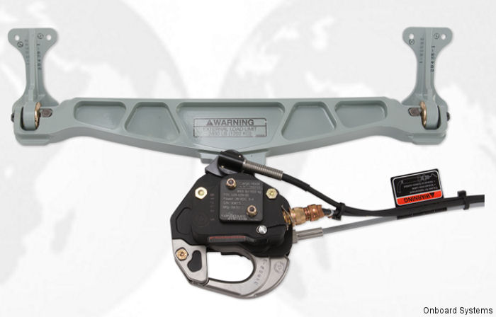 Onboard Systems International has obtained FAA STC certification for several new cargo hook kits for the Bell 407 aircraft featuring their Surefire release technology