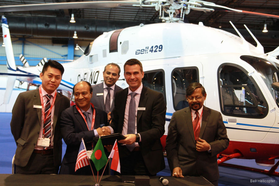 Meghna Aviation Ltd to become first operator of the Bell 429 in Bangladesh providing corporate, leisure and utility charter
