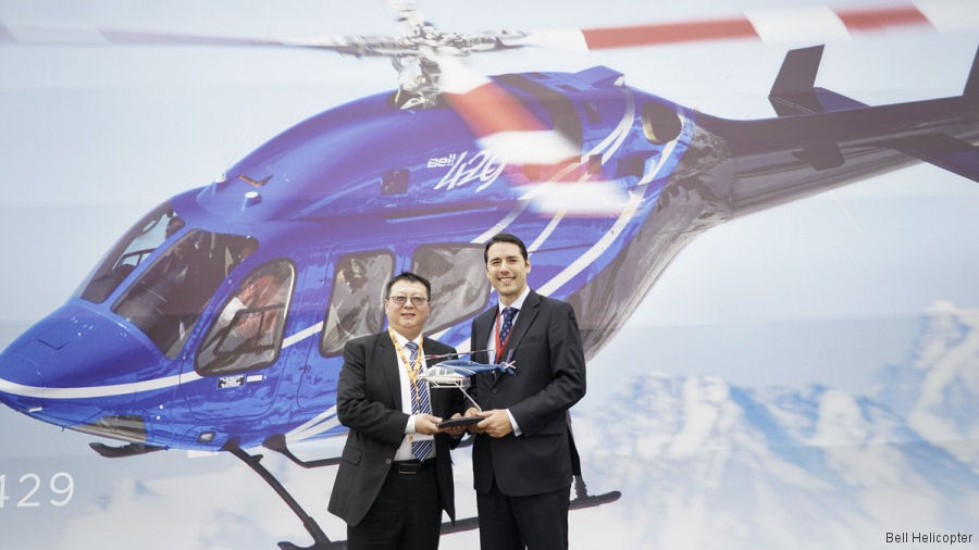 Beijing Yugao Aviation Group (YGA) signed purchase of its first aircraft, a Bell 429 HEMS (Helicopter Emergency Medical Service), during the Asian Business Aviation Conference & Exhibition (ABACE) 2017