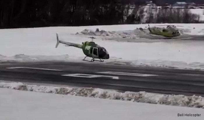 Video of the first flight of the production model Bell 505